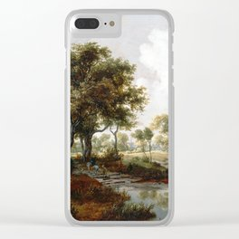 Meindert Hobbema A Wooded Landscape Clear iPhone Case