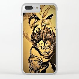 Vegeta and the Great Ape drawing Clear iPhone Case