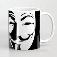 vendetta Mugs featuring Vendetta by The Vector Studio