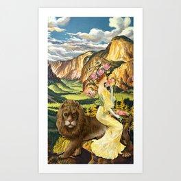 THE STRENGHT TAROT CARD Art Print