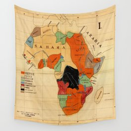Map Of Africa 1908 Wall Tapestry