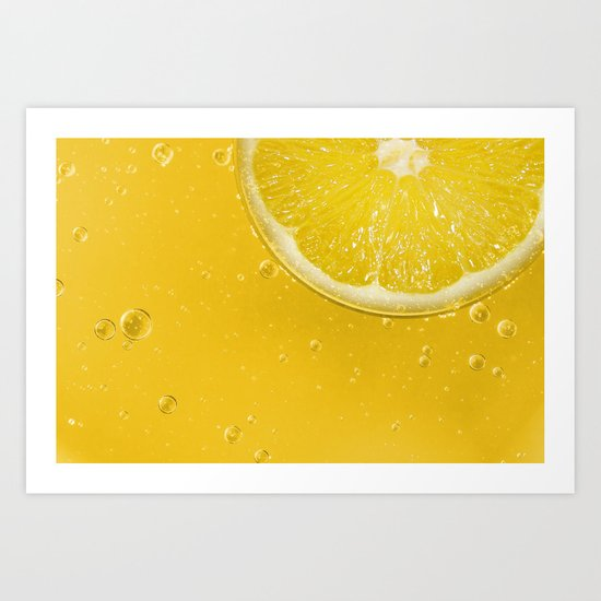 Lemon Thirst Quencher Art Print