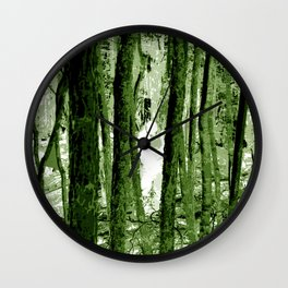 """Ghost in the Aokigahara Fores"" Wall Clock"