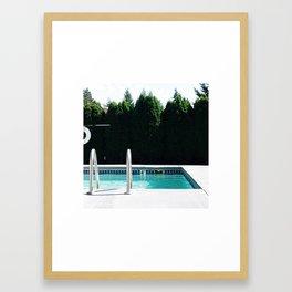 Pool day Framed Art Print