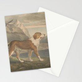 Vintage Illustration of a Newfoundland Dog (1835) Stationery Cards