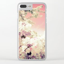 Pink Lavender Flowers Clear iPhone Case