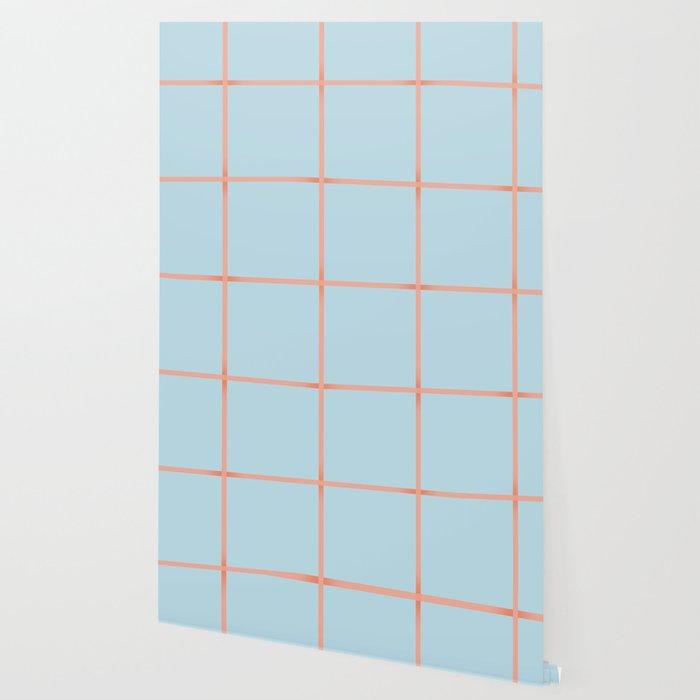 light blue open weave Wallpaper