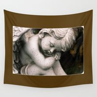 angel Wall Tapestries featuring Angel by Dora Birgis