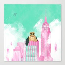 Teddy Bear in New York Canvas Print