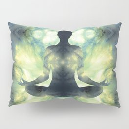 Yoga Asana  in Translucent Agate Pillow Sham