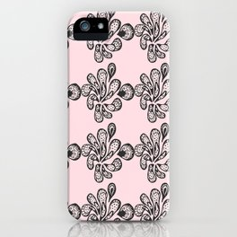Soft pink ornament iPhone Case
