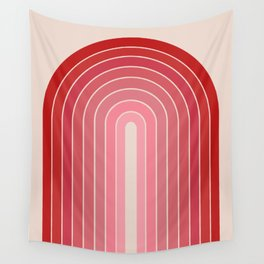 Gradient Arch - Pink / Red Tones Wall Tapestry