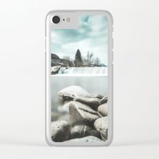 Waterfall on Sora river, Medvode Clear iPhone Case
