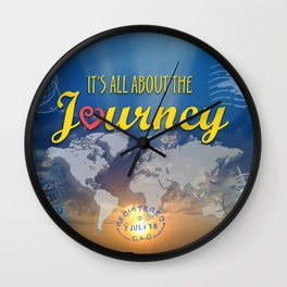 It's All About the Journey Wall Clock