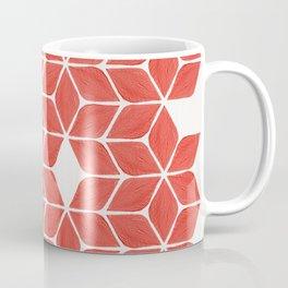 Poinsettia Stars – Coral Palette Coffee Mug