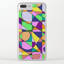 Pastel Pieces Clear iPhone Case