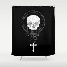 Anti-Church Death Metal Skull Shower Curtain