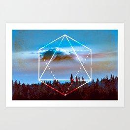 The Elements Geometric Nature Element of Air Art Print