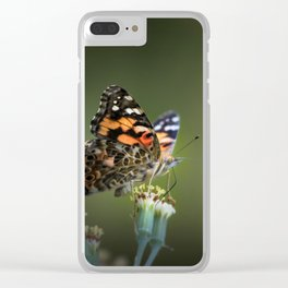 An American Lady Buttefly Clear iPhone Case