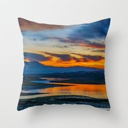 Saddleback at Sunrise from the Back Bay Throw Pillow