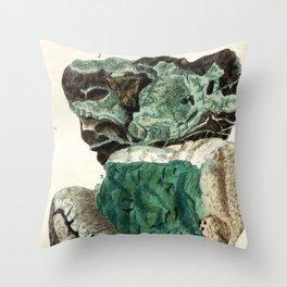 Vintage Mineralogy Illustration Throw Pillow