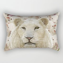 Lambs led by a lion Rectangular Pillow