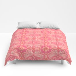 Coral Elephant Pattern Comforters