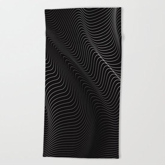 Minimal curves II Beach Towel