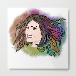 Lana Parrilla - Feathers of Hope Metal Print