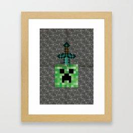 Creeper Head Framed Art Print