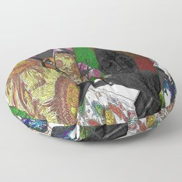 Whacky Bags pattern Floor Pillow