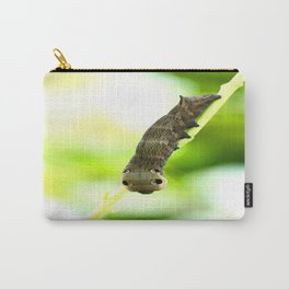 Caterpillar On A Green Plant #decor #society6 Carry-All Pouch