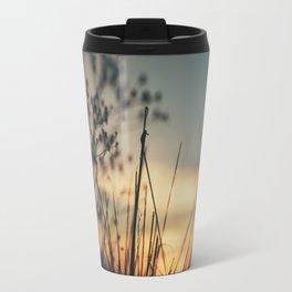 Vintage Wild Grass Sunset Travel Mug