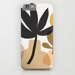 Abstraction_BOHEMIAN_PLANT_STILL_LIFE_Minimalism_001 iPhone Case