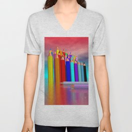 time to draw a picture -1- Unisex V-Neck