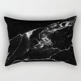 Black Marble I Rectangular Pillow