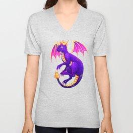 Purple Dragon Unisex V-Neck