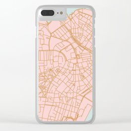 Boston map Clear iPhone Case