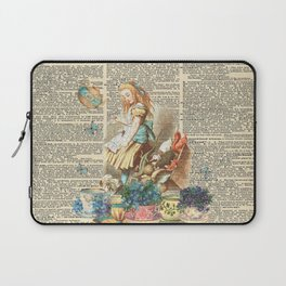 Vintage Alice In Wonderland on a Dictionary Page Laptop Sleeve