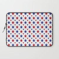 patriotic Laptop Sleeves featuring Patriotic Stars by Jennifer Agu