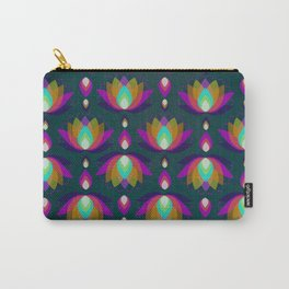 Variations on a Lotus II - Jewel on Green Carry-All Pouch