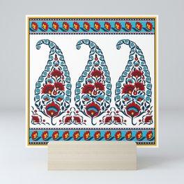 Oriental paisley pattern - Indian Kashmir shawls floral print Mini Art Print