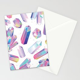 Purple Crystals Stationery Cards