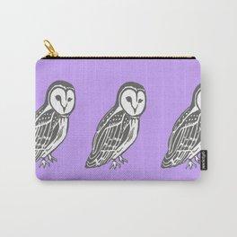 Grey Barn Owl Art Carry-All Pouch