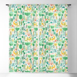Jungle life with golden unicorn Blackout Curtain