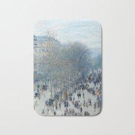 Claude Monet - Boulevard des Capucines, 1873 Bath Mat