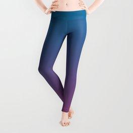 Mosaic Blue and Cerise Gradient Leggings