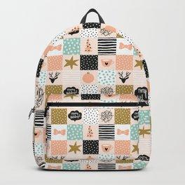 Christmas mosaic. Winter holiday Backpack