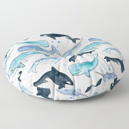 Whales, Orcas & Narwhals Floor Pillow