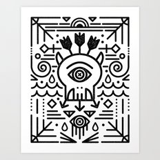 Monster Killer Cult Art Print